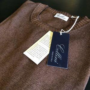 Cellini Italian Wool Brown Sweater